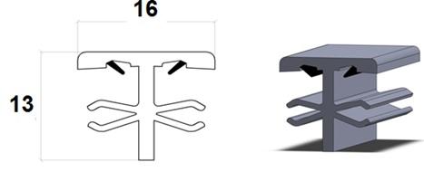 Profiliai su sandarinimo tarpine PVC rėmų sujungimui