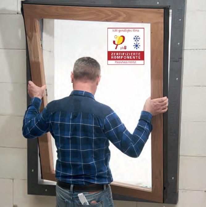 Sertifikuoti passivhaus institute Triotherm profiliai ir sistemos komponentai langų montavimui