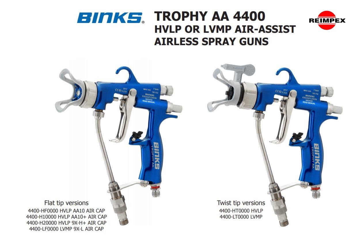 Binks purkstuvai pistoletai AA4400