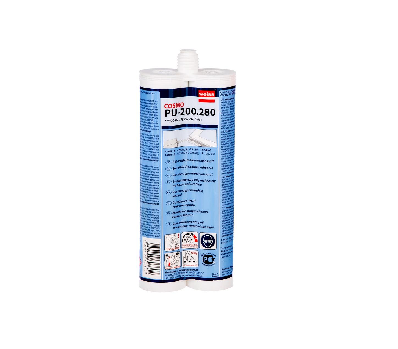 Dvikomponenčiai klijai aliuminio profilių kampų sujungimams COSMO PU 200 280.